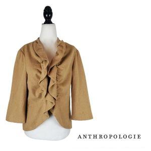 ANTHROPOLOGIE Tabitha Short & Sweet Ruffle Blazer